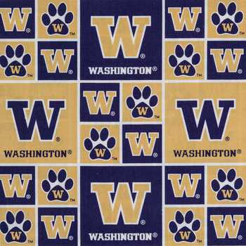 Washington Block Collegiate Cotton Fabric